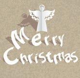 Papierowy rżnięty Wesoło Bożych Narodzeń tło ilustracja wektor