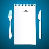 Papierowy Restauracyjny menu ilustracji