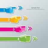 Papierowy ręki liczby infographics Zdjęcie Royalty Free