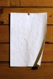 papierowy rocznika ściany drewno Zdjęcie Royalty Free