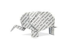Papierowy słoń Zdjęcia Stock