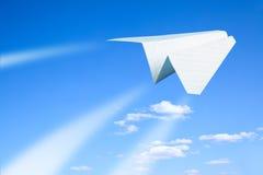 papierowy samolot Obraz Stock