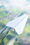 papierowy samolot obrazy royalty free