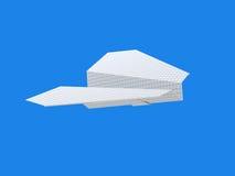 papierowy samolot Zdjęcia Royalty Free