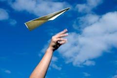papierowy samolot Fotografia Royalty Free