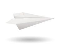 Papierowy samolot Fotografia Stock