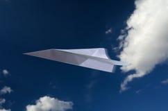 Papierowy samolot 2 Fotografia Royalty Free
