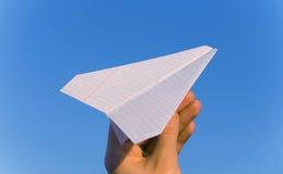 papierowy samolot Obraz Royalty Free