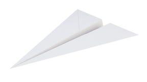 Papierowy samolot odizolowywający na białym tle świadczenia 3 d Fotografia Royalty Free