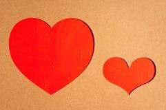 Papierowy serce Obraz Stock