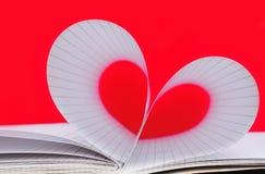 Papierowy serce Fotografia Royalty Free