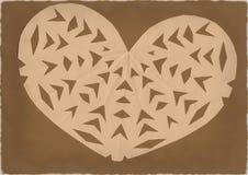 Papierowy serce obrazy stock