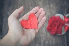 Papierowy serce Zdjęcie Stock