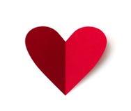 Papierowy serce dla valentines dnia Zdjęcia Royalty Free