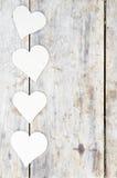 Papierowy serce na drewnianym tle Fotografia Stock