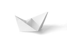 papierowy statek Obraz Stock