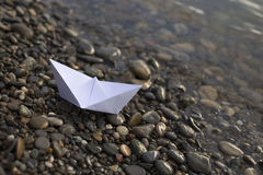 Papierowy statek Ja Obrazy Royalty Free