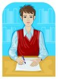 papierowy studencki writing Zdjęcie Stock