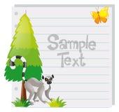 Papierowy szablon z meerkat i drzewem Zdjęcie Royalty Free