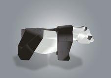 Papierowy sztuka niedźwiedź Obraz Royalty Free