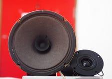 Papierowy szyszkowy głośnika kierowca z kopia rożkiem Zdjęcie Stock