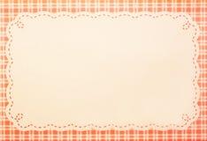 Papierowy tło z kwadrat ramą dla kartka z pozdrowieniami Zdjęcie Stock