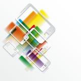 papierowy tło z telefonami Obrazy Stock