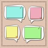 Papierowy teksta bubbleÑ ‹ Obraz Stock