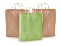 papierowy torba zakupy Zdjęcie Stock