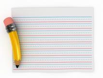 papierowy writing Obraz Stock