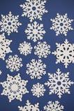 Papierowy wycinanka płatka śniegu tło Fotografia Stock