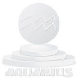 Papierowy zodiaka znak Aquarius - Astrologiczny i horoskop symbol Obraz Royalty Free
