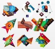 Papierowych grafika sieci infographic układy Obraz Stock