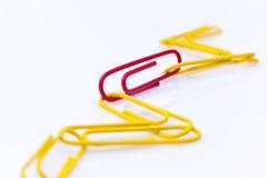 Papierowych klamerek łańcuch Obraz Stock