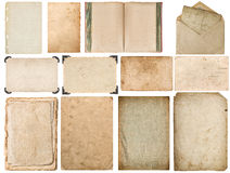 Papierowych krawędzi fotografii ramy książkowy kopertowy kartonowy kąt Zdjęcia Royalty Free