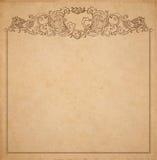 Papierpappe mit Weinleserahmen Stockbilder