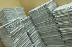 Papierpfostenumschläge Stockfotografie