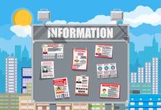 Papierplakat der gesuchten Person Die Verfehlung kündigen an Lizenzfreie Stockbilder