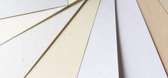 Papierproben Stockbilder