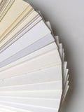 Papierproben für Visitenkarten Stockfoto