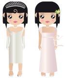 Papierpuppen in der formalen Hochzeit Stockbild