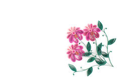 Papierquilling, bunte Papierblumen Stockbilder