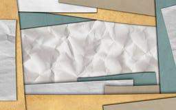 Papierrahmenhintergrund stock abbildung