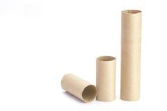 Papierrohr des Toilettenpapiers lizenzfreies stockfoto