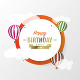 Papierrundenkarte mit Luftballonen feier Vektor Lizenzfreie Stockfotos