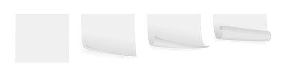 Papiers adhésifs gris-clair Photographie stock