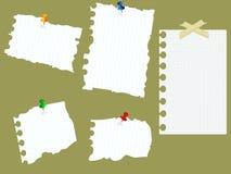 Papiers collés sur le panneau Photo stock