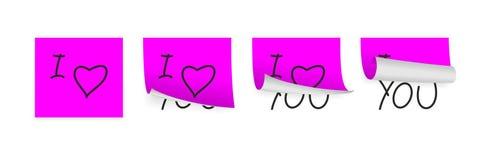 Papiers d'adhésif de Valentine Photos libres de droits