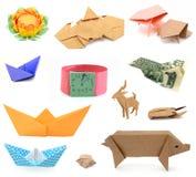 Papiers d'origami Photographie stock libre de droits