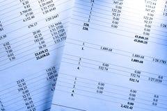 Papiers de budget Photos libres de droits